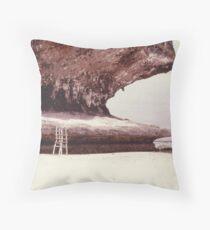 Deserted beach, New Caledonia  Throw Pillow