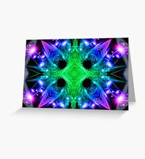 Alien Snowflake Greeting Card