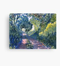 Hockney's Tunnel of Trees Canvas Print