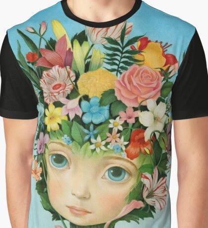 The Languaje of Flowers by Raul Guerra Graphic T-Shirt