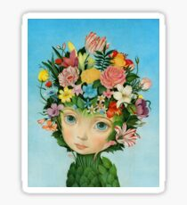 The Languaje of Flowers by Raul Guerra Sticker