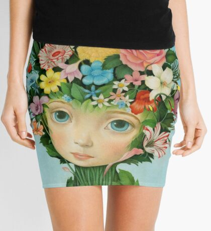 The Languaje of Flowers by Raul Guerra Mini Skirt