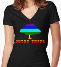 More Trees Women's Fitted V-Neck T-Shirt
