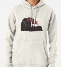 Vulture Head Transparent Background Pullover Hoodie