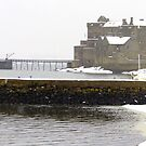 Blackness Castle in the snow by Tom Gomez