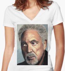 Tom Jones Women's Fitted V-Neck T-Shirt