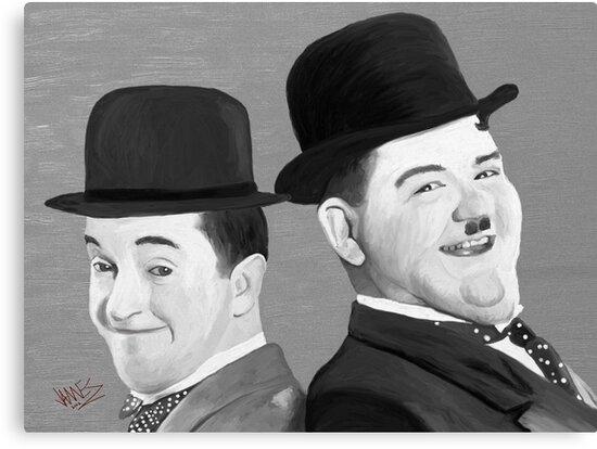 Laurel and Hardy by James Shepherd