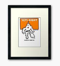 Yeti Robot Comic Monster Super Hero Graphic Design Framed Print