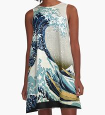 The great wave, famous Japanese artwork A-Line Dress