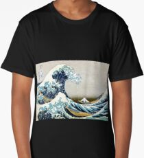 The great wave, famous Japanese artwork Long T-Shirt