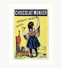 Famous french chocolate ad, Chocolat Menier Art Print