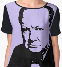 Silhouette portrait Winston Churchill Chiffon Top