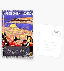 Vintage Simplon Orient Express London Constantinople Postcards