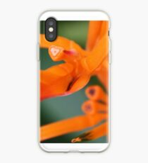 Herzed Papagei Blume iPhone-Hülle & Cover