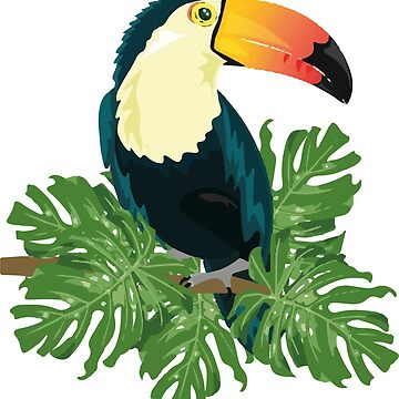 Colorful Toucan T-Shirt by CascudoGifts