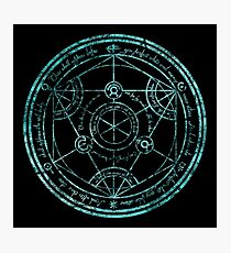 Human Transmutation Circle - turquoise grunge Photographic Print