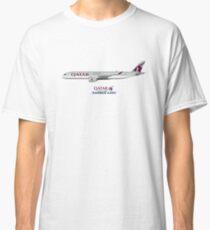 Illustration of Qatar Airbus A350 Classic T-Shirt
