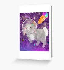 SPACE HOPPER Greeting Card