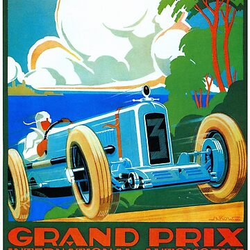 Classic cars motor racing Grand Prix French Riviera 1929  by aapshop