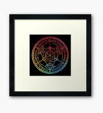 Human Transmutation Circle - Colorful Watercolor Framed Print