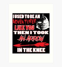 An Arrow In The Knee Art Print