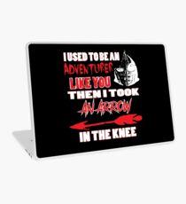 An Arrow In The Knee Laptop Skin