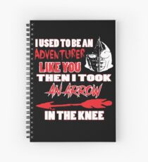 An Arrow In The Knee Spiral Notebook