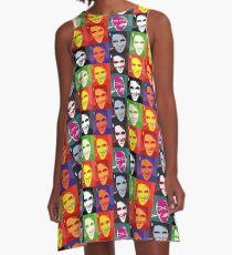 faces of Elvis A-Line Dress