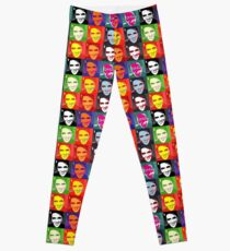 faces of Elvis Leggings