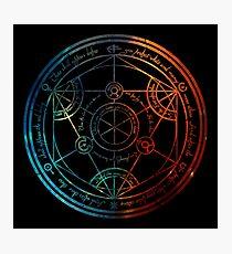 Space Nebula Human Transmutation Circle  Photographic Print