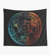 Space Nebula Human Transmutation Circle  Wall Tapestry