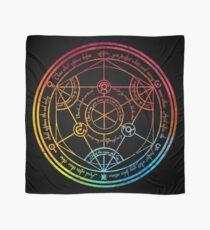 Human Transmutation Circle - Colorful Watercolor Scarf