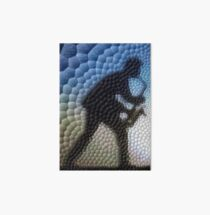 Saxophonist in mosaic (blue and braun) Art Board