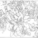 Large Bunch of Flowers - pencil sketch  by bywhacky