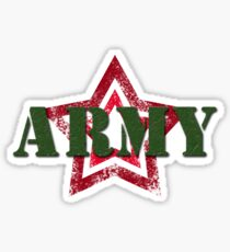 Military army red star Sticker