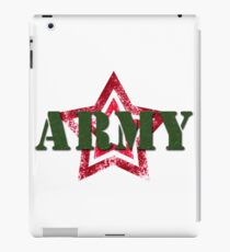Military army red star iPad Case/Skin