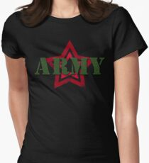 Military army red star Womens Fitted T-Shirt
