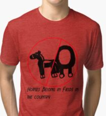 Pro Horses Anti-Horse and Carriage Rides Tri-blend T-Shirt