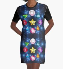 Crystal Gems Graphic T-Shirt Dress