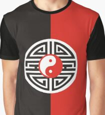 Yin Yang Yantra Tattoo Red Black White Graphic T-Shirt