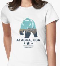 American Gods - Motel America Alaska branch Womens Fitted T-Shirt