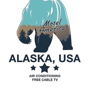 American Gods - Motel America Alaska branch by Daratgh