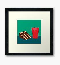 Peanut Butter Chocolate Cake with Kool-Aid Framed Print