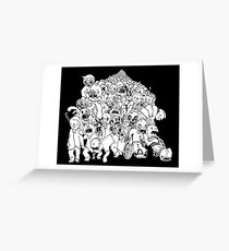 Zombie Mob Greeting Card