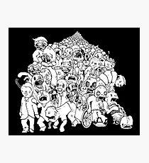 Zombie Mob Photographic Print