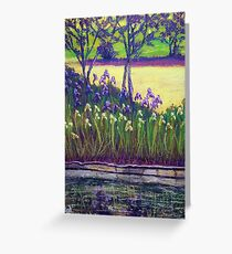 Iris Reflections Greeting Card