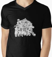 Zombie Mob Mens V-Neck T-Shirt