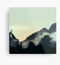 Misty Mountain Metal Print