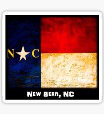 NC Flag   (New Bern, NC) Sticker