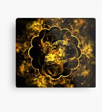 Sunflower Eclipse Metal Print